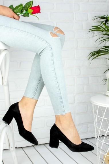 Pantofi cu toc AWON 8A71001SIS negru - els
