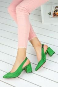 Pantofi cu toc AWON 300871040YES verde