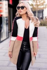 Palton Chic Diva Iris Alb