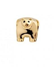Polar Bear, Talisman, Argint 925 placat cu Aur galben 18k