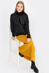 Madame Vogue Kabát PNC-CLA-015-Black Fekete