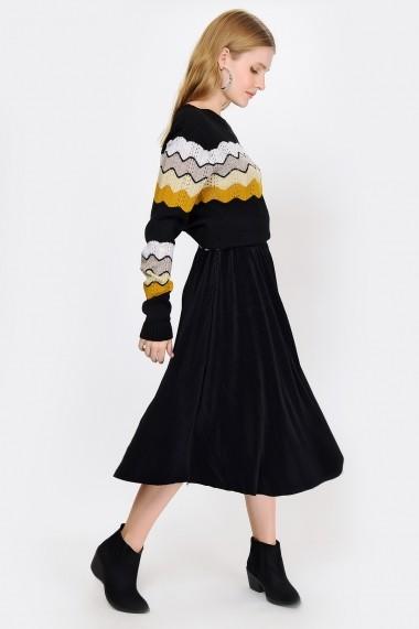 Fusta midi Madame Vogue ALC-018-027-CA negru