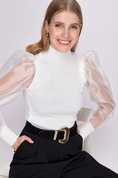 Bluza Madame Vogue ALC-Y2645 alb - els