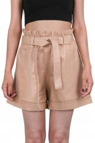 Pantaloni scurti din piele IPARELDE IPAW1002 bej