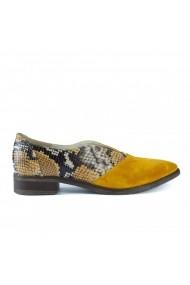 Pantofi oxford fara siret Donna Mia DM2006 galben