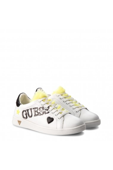 Ghete sport Guess FLUPE3LEA12_WHITE-YELLOW Alb