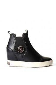Sandale cu toc Guess FLFRD3LEA12_BLACK Negru