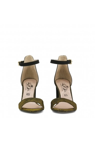 Sandale cu toc Paris Hilton 92_NERO-ORO negru