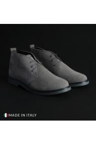 Pantofi Marco Nils 233_CAMOSCIO_GRIGIO-CHIARO