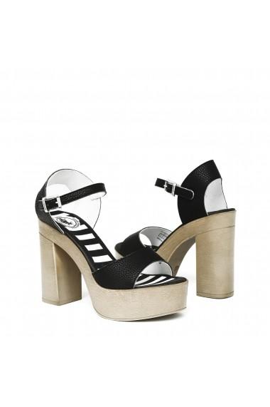 Sandale cu toc U.S. Polo ASSN. FAYE4026S8_Y1_BLK