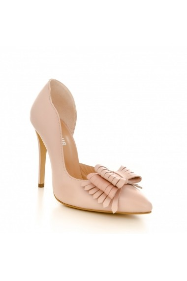 Pantofi cu toc CONDUR by alexandru 1702 nude