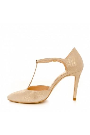 Pantofi cu toc CONDUR by alexandru 1403 gold