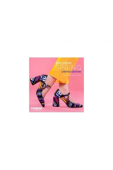 Pantofi cu toc CONDUR by alexandru 1808 multicolor