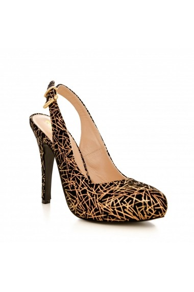 Pantofi cu toc CONDUR by alexandru 1202 negru