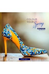 Pantofi cu toc CONDUR by alexandru 1401 galben