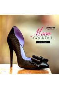 Pantofi cu toc CONDUR by alexandru 172 negru