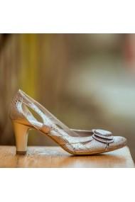 Sandale cu toc CONDUR by alexandru 672 rose