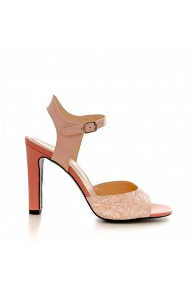 Sandale cu toc CONDUR by alexandru 1318 nude