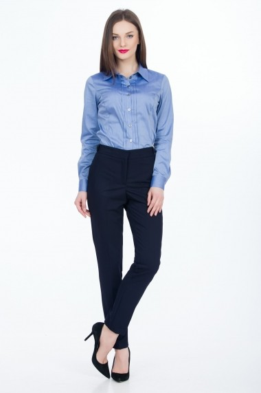 Pantaloni drepti Sense Julia CA4587 bleumarin