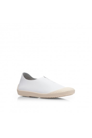 Pantofi NISSA sport din piele naturala Alb