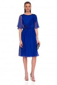 Rochie NISSA eleganta din matase cu detaliu in talie Albastru