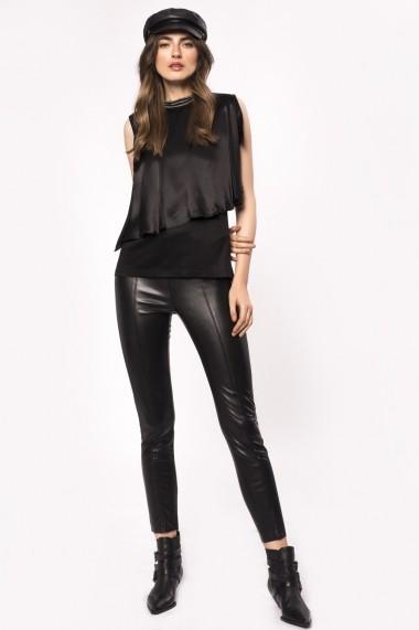 Pantaloni skinny NISSA skinny din piele ecologica Negru