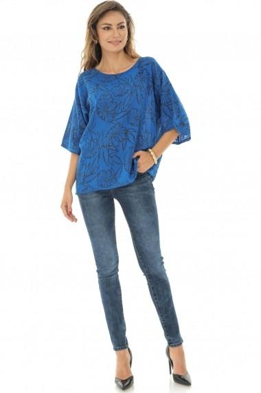 Bluza Roh Boutique casual, albastra, oversize, ROH - BR2120 albastru