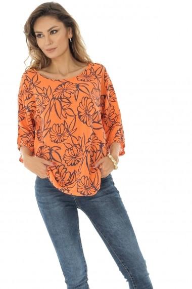Bluza Roh Boutique casual, portocalie, oversize, ROH - BR2119 portocaliu