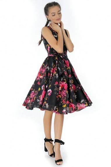 Rochie de seara Roh Boutique - DR3428 negru|multicolor