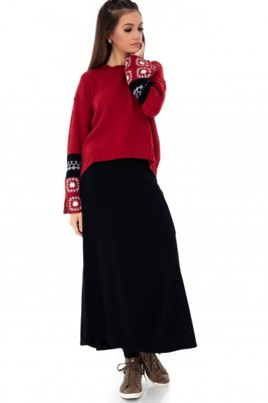 Fusta lunga Roh Boutique - FR410 negru