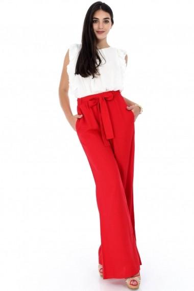 Pantaloni largi Roh Boutique rosii, ROH, largi - TR280 rosu