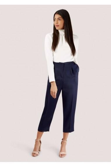 Pantaloni trei sferturi Roh Boutique cu Pliuri - TR322 bleumarin