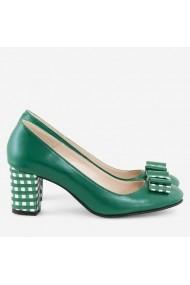 Pantofi din piele naturala verde Holland Dianemarie   P104 vd