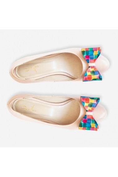 Balerini cu fundite multicolore Painting Dianemarie   220F mozaic