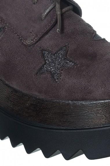 Pantofi Rammi  gri petrol cu stelute - els