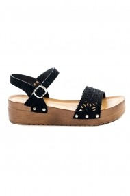 Sandale plate Rammi cu insertii brodate