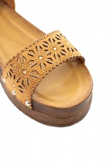 Sandale plate Rammi cu insertii florale