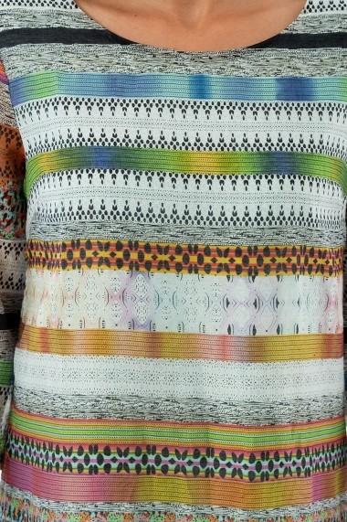 Rochie Rammi multicolora din vascoza