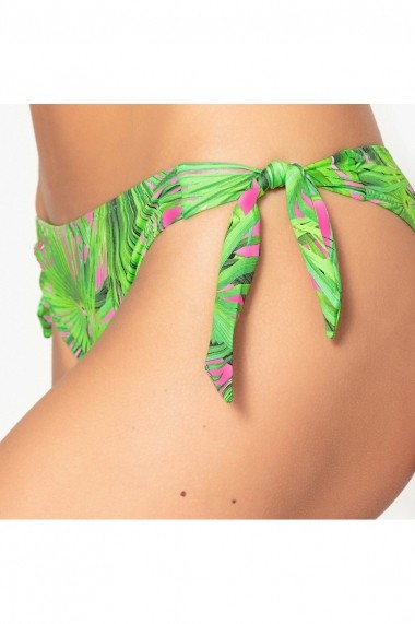 Slip de baie La Redoute Collections GEO260-Tropical Print verde, roz - els