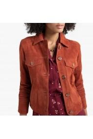 Jacheta din piele La Redoute Collections GGN239 maro