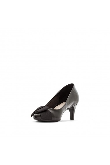 Pantofi cu toc La Redoute Collections GEV480-black Negru