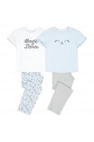 Set 2 pijamale, 10-16 ani La Redoute Collections GHO073 albastru