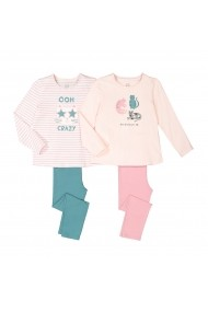 Set 2 pijamale La Redoute Collections GGE821 roz