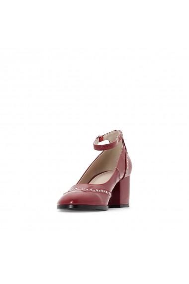 Pantofi cu toc La Redoute Collections GER013-burgundy Bordo