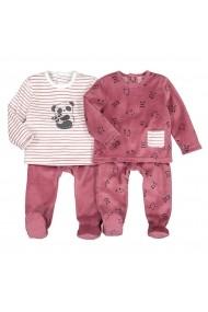 Set 2 pijamale, 6 luni-4 ani La Redoute Collections GHP115 alb