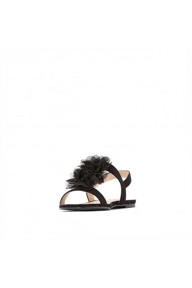 Sandale plate La Redoute Collections GGA508 negru