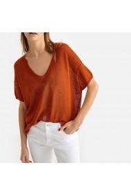 Пуловер  La Redoute Collections GFS069-9433 кафяво