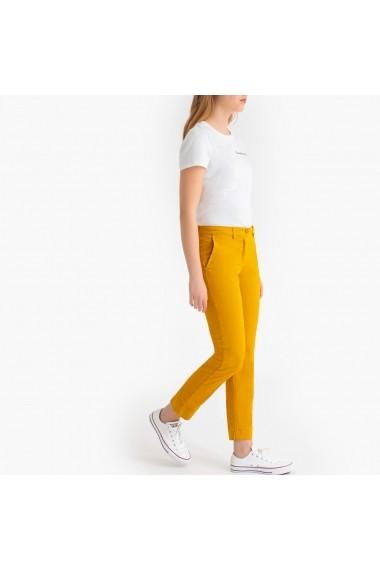 Pantaloni drepti La Redoute Collections GFS136 galben