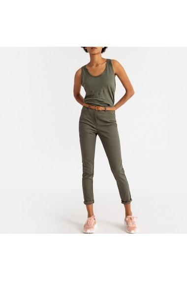 Pantaloni drepti La Redoute Collections GFS139 kaki