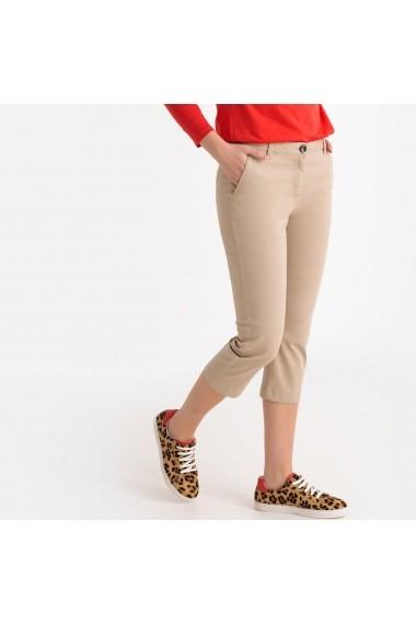 Pantaloni trei sferturi La Redoute Collections GFS128 bej